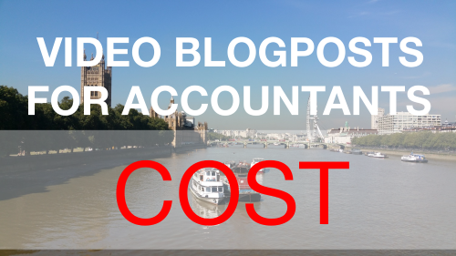 Video Blogposts for Accountants - Cost