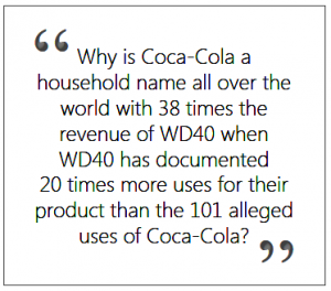 Coca_Cola vs. WD40